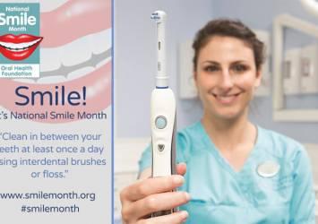 National Smile Month interdental brush